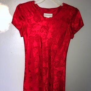Red Vintage Jessica Howard Dress
